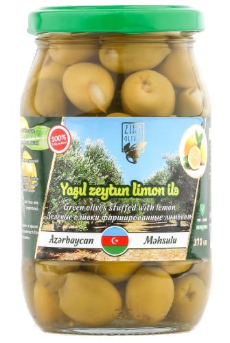 Yaşıl Zeytun limonlu 370 qr